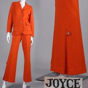 XL/XXL Vintage 70s Jacket Bell Bottom Pants Set
